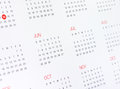 Calendar  with months and days Royalty Free Stock Photo
