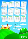 Calendar  of next year Royalty Free Stock Photos