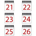 Calendar Number Vector Icons Set