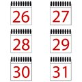 Calendar Number Vector Icons Set Royalty Free Stock Photo