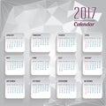 Calendar For 2017  Object For ...