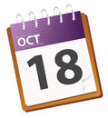 Calendar october Royalty Free Stock Photography