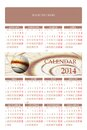 Calendar one page with abstract image and weeks number Royalty Free Stock Photo