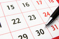 Calendar with a pen 2 Royalty Free Stock Photo