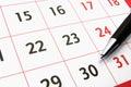 Calendar with a pen 2 Royalty Free Stock Photo