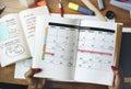 Calendar planner organization management remind concept Royalty Free Stock Photo