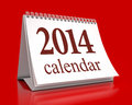 Calendar in red background Royalty Free Stock Photos