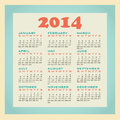 Calendar in retro style th century Royalty Free Stock Photo