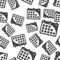 Calendar seamless pattern background icon. Flat vector illustrat