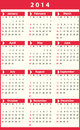 Calendar for simple clean and clear white and red Stock Photography