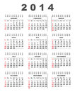 Calendar simple and clean week starts at sunday Royalty Free Stock Photography