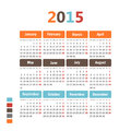 Calendar simple vector illustration Stock Photos