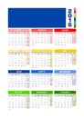 Calendar 2016 Spanish, Colored...