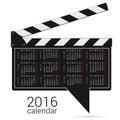Calendar 2016 on a speech bubble vector