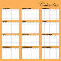 Calendar Template Stock Images