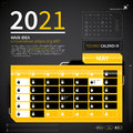 Calendar template in techno style Royalty Free Stock Photo