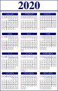 Calendar Template For 2020 Yea...