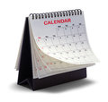 Calendar Tent Flipped Pages Royalty Free Stock Photo
