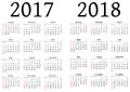 Calendar For 2017 And 2018
