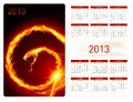 Calendar twenty thirteen. Fire Snake Stock Photos