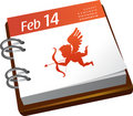 Calendar - Valentines day Royalty Free Stock Image