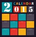 Calendar vector earthtone design Stock Image