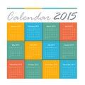 Calendar vector earthtone design Royalty Free Stock Photo