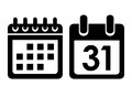 Calendar vector icon Royalty Free Stock Photo