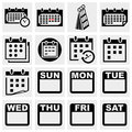 Calendar vector icons set isolated on grey background eps file available Royalty Free Stock Photos