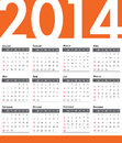 Calendar vector illustration of annual Stock Photography