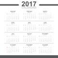 2017 Calendar Vector Object