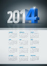Calendar vector year elements are layered separately in vector file easy editable Stock Images