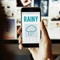 Calendar Weather Update Rainy Concept
