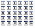 Calendar (web icons) Royalty Free Stock Photos
