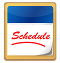 Calendar with the word Schedule Royalty Free Stock Images