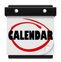 Calendar Word Schedule Planner Tear Pages Day Date Royalty Free Stock Photo