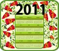 Calendar for Year 2011 (starts Sunday) Royalty Free Stock Image