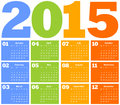 Calendar for Year 2015 Stock Photos