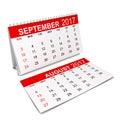 Calendar for 2017 year