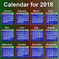 Calendar for year england organizer scheduler seasonally annuitant plan chart of green newly Stock Photo