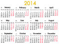 Calendar for year image of simple and accurate Royalty Free Stock Photos