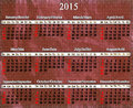 Calendar for 2015 year on lilac pattern