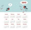 Calendar 2015 Year With Singin...