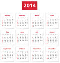 Calendar for year on white papers in english vector illustration Royalty Free Stock Photos