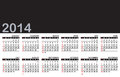 Calendar you can change the size color and add your favorite item or logo on the black area Royalty Free Stock Photography