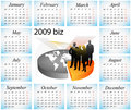 Calendario 2009 Fotografie Stock