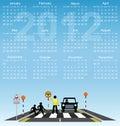 Calendario 2012 Foto de archivo