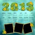 Calendario 2013 de la vendimia Foto de archivo