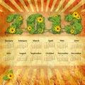 Calendario 2013 de la vendimia Fotos de archivo libres de regalías