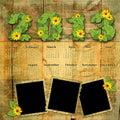 Calendario 2013 de la vendimia Imagen de archivo libre de regalías